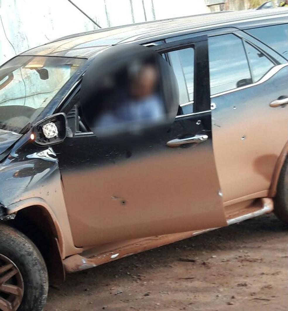 Prefeito foi perseguido e atingido por disparos quando chegava em Colniza (MT) (Foto: Arquivo pessoal)