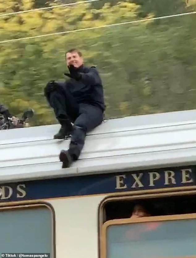 Tom Cruise nas filmagens do novo Missão: Impossível (Foto: Reprodução)