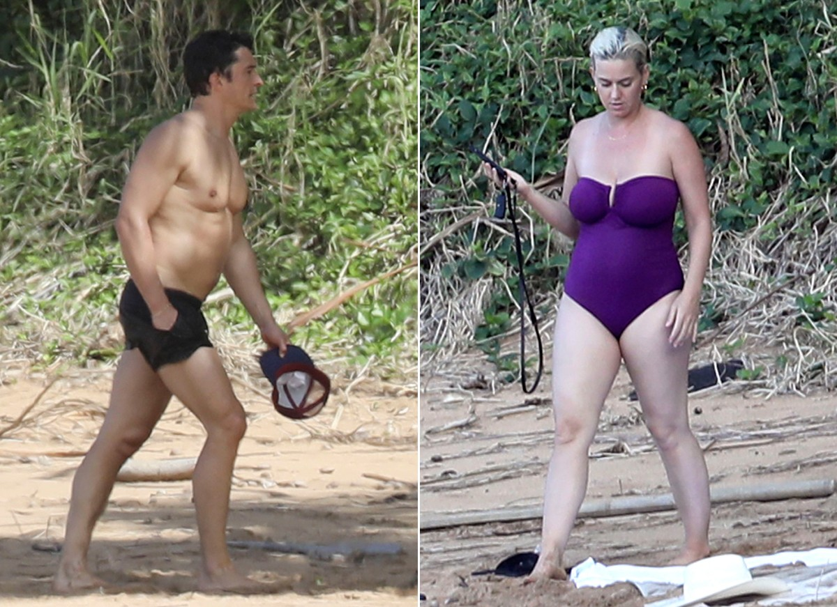 Orlando Bloom e Katy Perry (Foto: The Grosby Group)