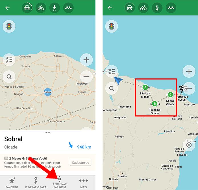 Como adicionar paradas durante uma rota com Maps Me | Mapas
