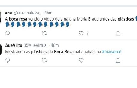 Internautas comentam sobre plásticas da ex-BBB Reprodução/Instagram