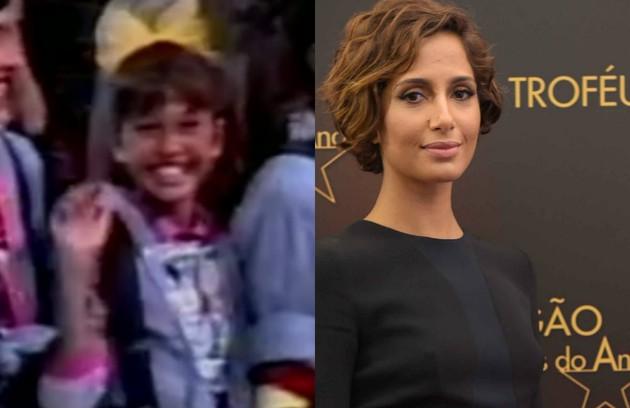 Em 1988, Camila Pitanga estreou como assistente de palco de Angélica, no 'Clube da criança', da TV Manchete (Foto: Reprodução e TV Globo)
