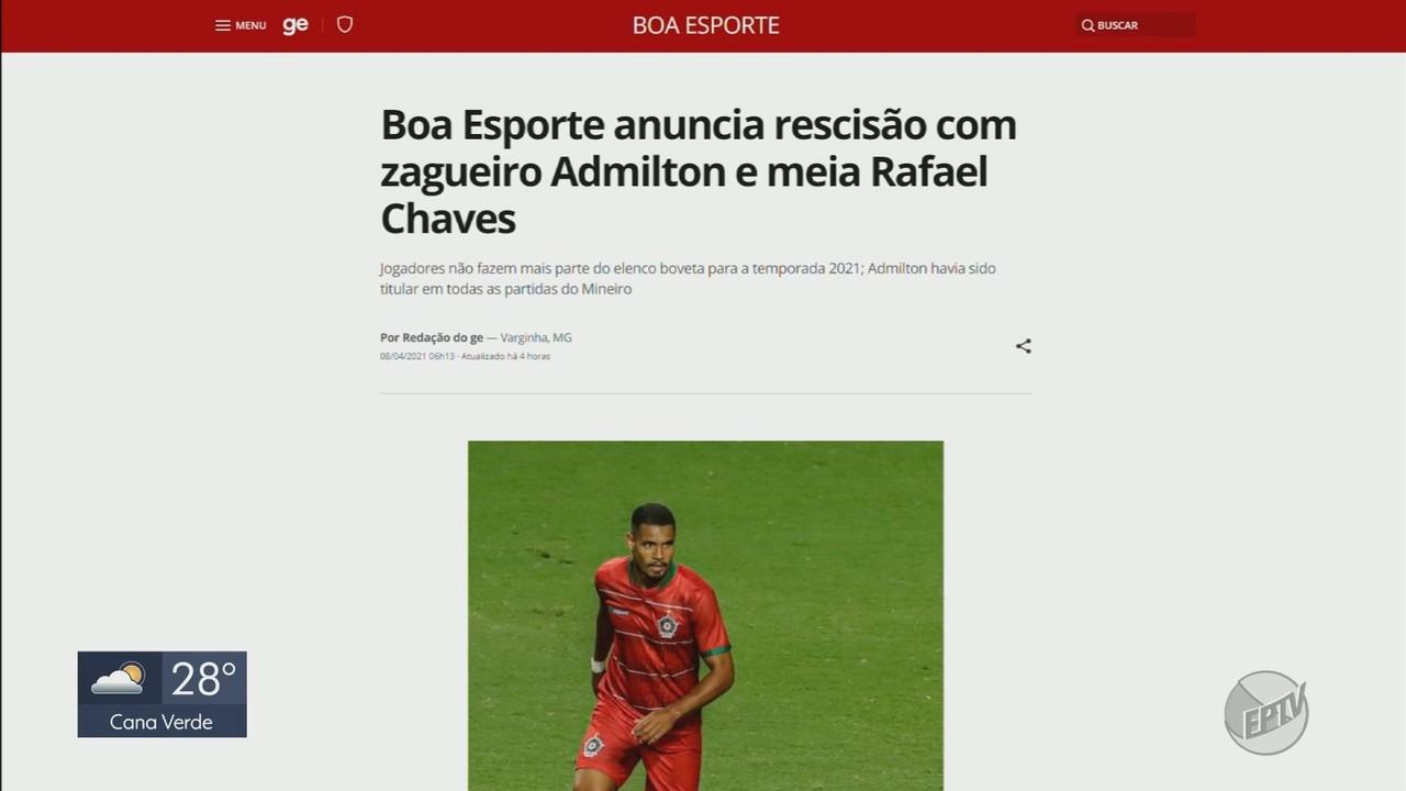 Boa Esporte anuncia saída de dois jogadores e novo técnico já pode estrear
