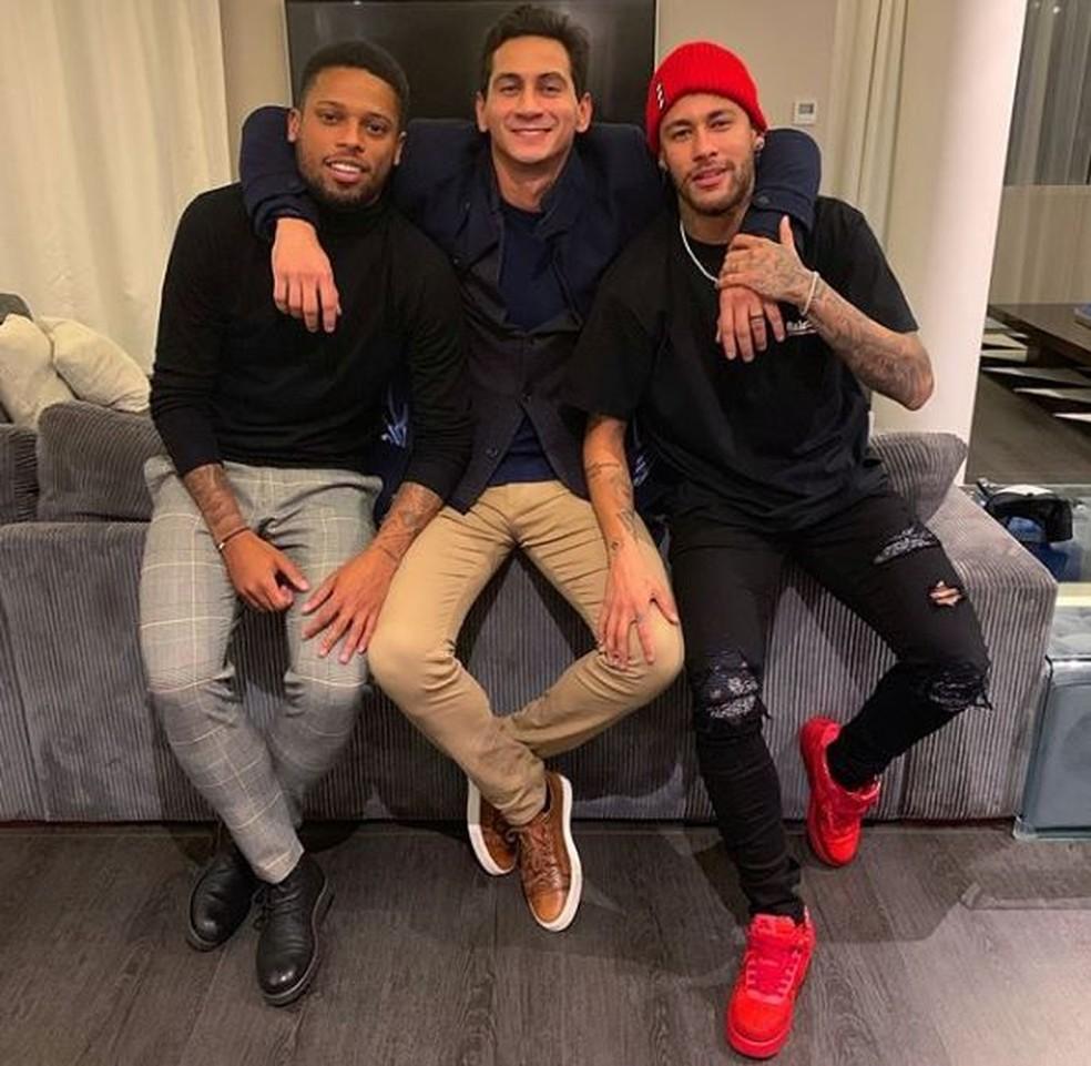 Ganso esteve recentemente com André e Neymar — Foto: Reprodução/Instagram