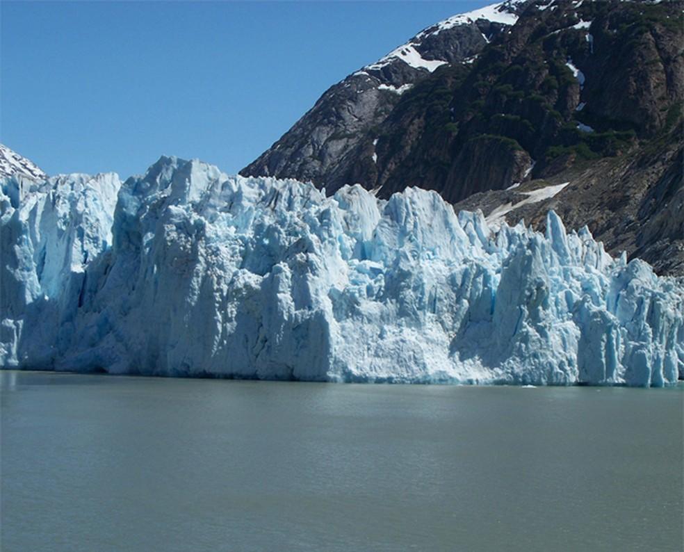 As geleiras escondem provas de como foi a vida na Terra há milhares de anos — Foto: Divulgação/Epod/Universities Space Research Association