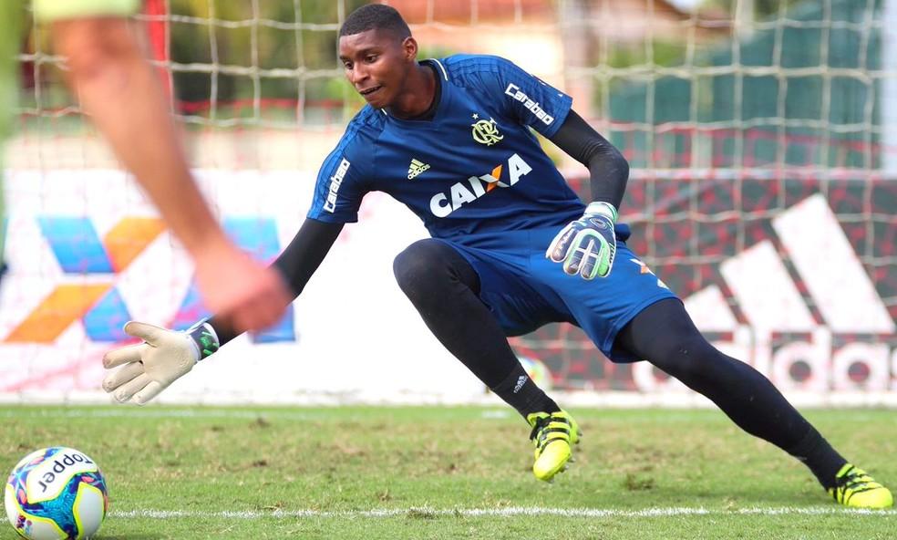 Hugo Souza é a principal aposta do Flamengo na Copinha (Foto: Gilvan de Souza / Flamengo)