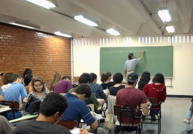 Apenas 2,4% dos cursos a distância obtiveram avaliação máxima. Enade é exame feito por estudantes para avaliar conhecimentos e competências (Foto: Arquivo/Agência Brasil)