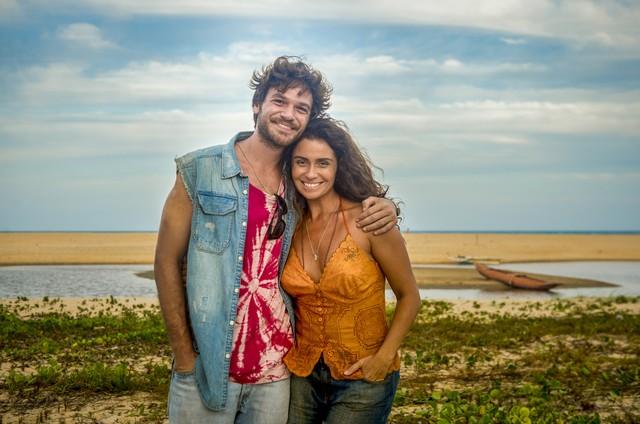 'Segundo Sol': Luzia (Giovanna Antonelli) e Beto (Emilio Dantas) (Foto: Globo / João Cotta)