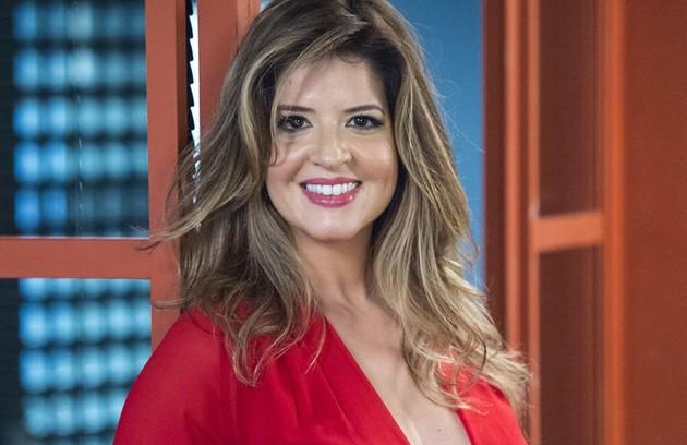 É Mariana Santos, que terá um programa no GNT com Marcelo Serrado, que foi seu par na novela das 19h (Foto: Estevam Avellar/TV Globo)
