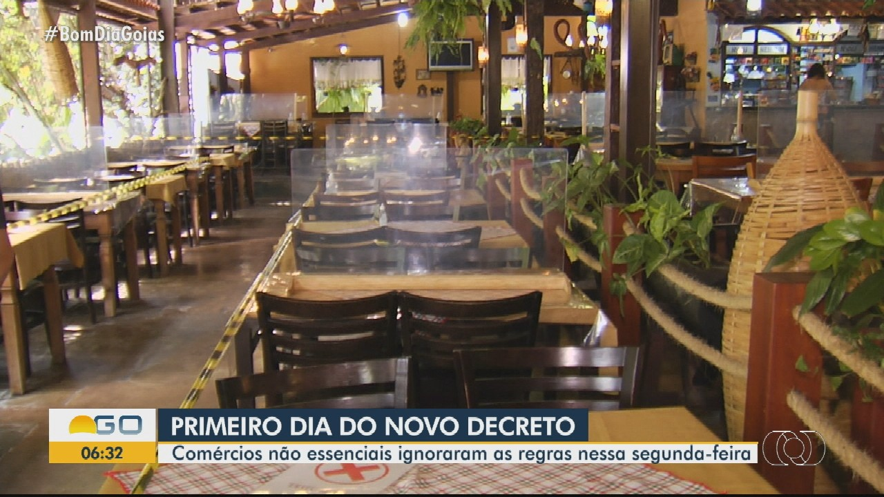 Pessoas ignoram decreto restritivo em Goiânia