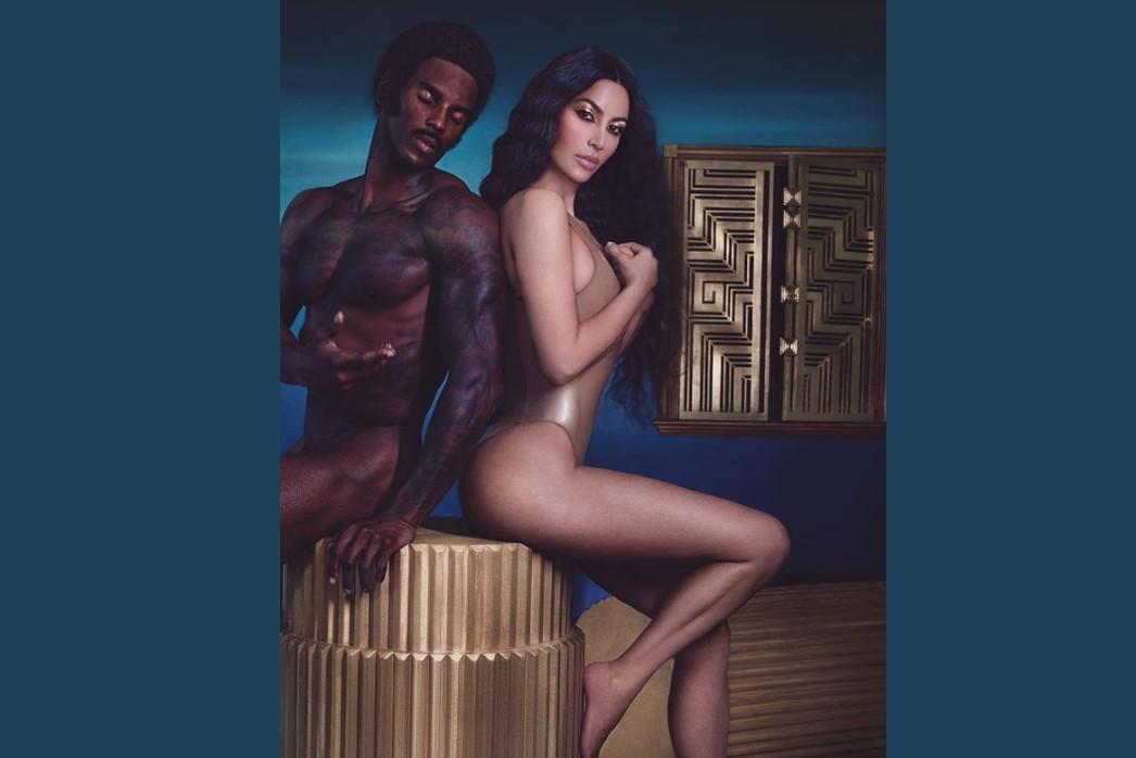 Kim Kardashian e o modelo Quinten Barnard (Foto: Instagram)