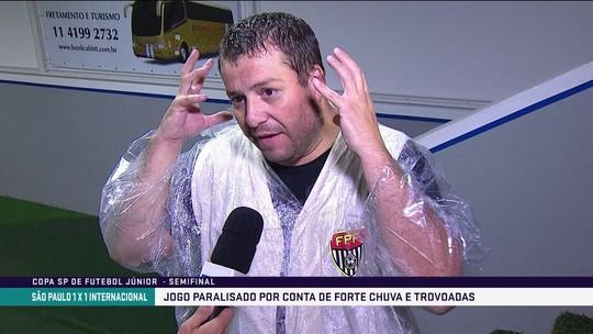 Cinegrafista diz que levou choque após raio em São Paulo x Inter; torcedora é atendida