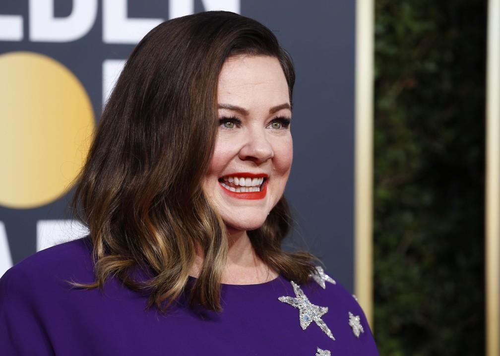 Melissa McCarthy no Globo de Ouro 2019 — Foto: REUTERS/Mike Blake