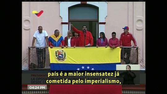 Maduro reage a declaração de Guaidó como presidente e rompe relações com os EUA: 'Aqui vamos ao combate'