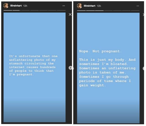 A resposta de Lili Reinhart sobre o boato de que ela estaria grávida (Foto: Instagram)
