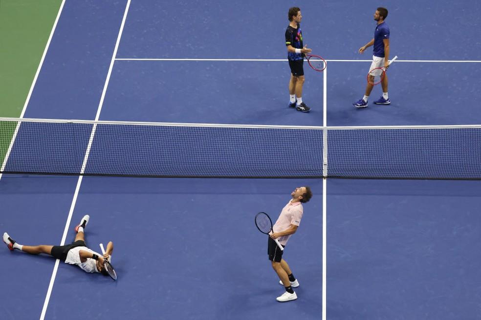 Bruno e Pavic são campeões do US Open — Foto: Gettyimages