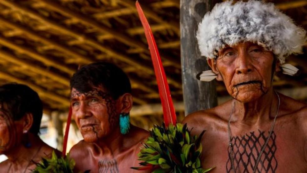 Povo yanomami habita a região do Pico da Neblina, na divisa do Brasil com a Venezuela (Foto: BBC)