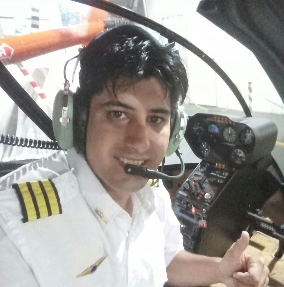 Piloto de helicóptero identificado como Gelson Moraes da Silva  — Foto: Arquivo Pessoal