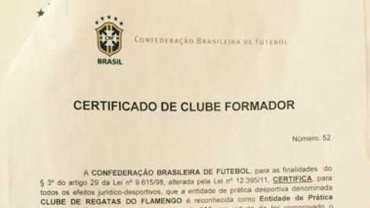 CBF concede ao Flamengo o Certificado de Clube Formador 0cf9ec2aeb322