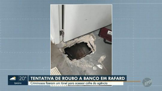 Bando abre buraco do porão até cofre de banco em Rafard, mas alarme interrompe ação