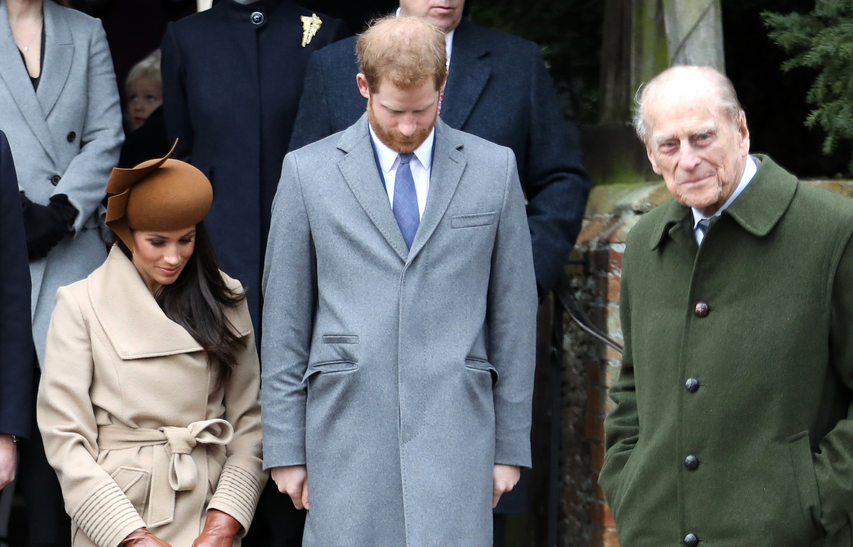 Príncipe Philip, Príncipe Harry e Meghan Markle (Foto: Getty Images)