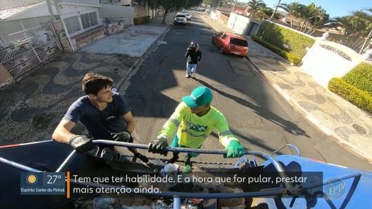 Coletor de lixo larga o alcoolismo para se dedicar às corridas e usa rotina do serviço como treino