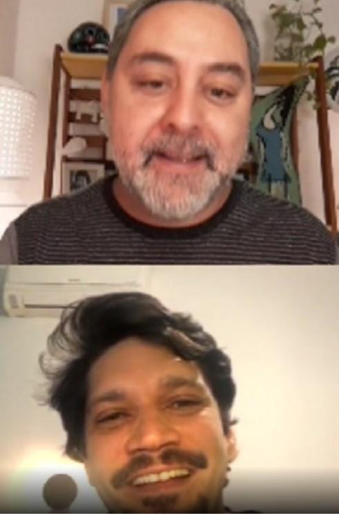 Armando Babioff e Alexandre Martins em live (Foto: Reprodução Instagram)