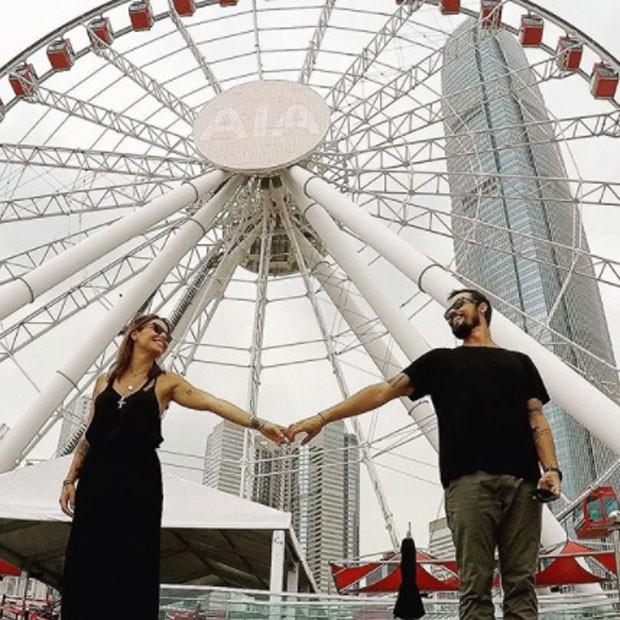 Paulo Vilhena e namorada (Foto: Reprodução)