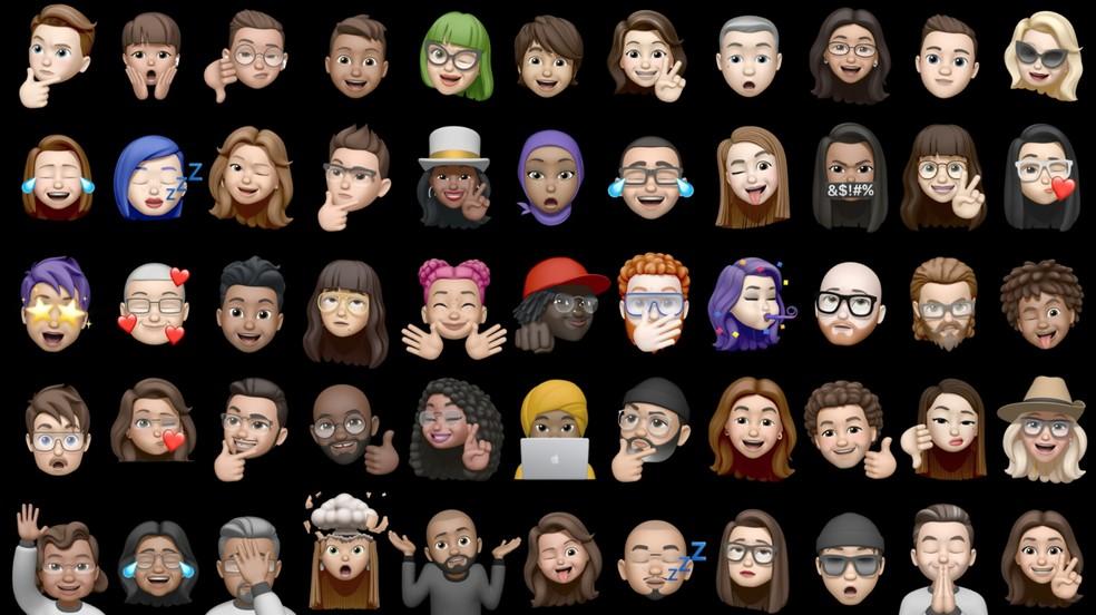 Memojis ganharam novas máscaras faciais — Foto: Reprodução/Apple