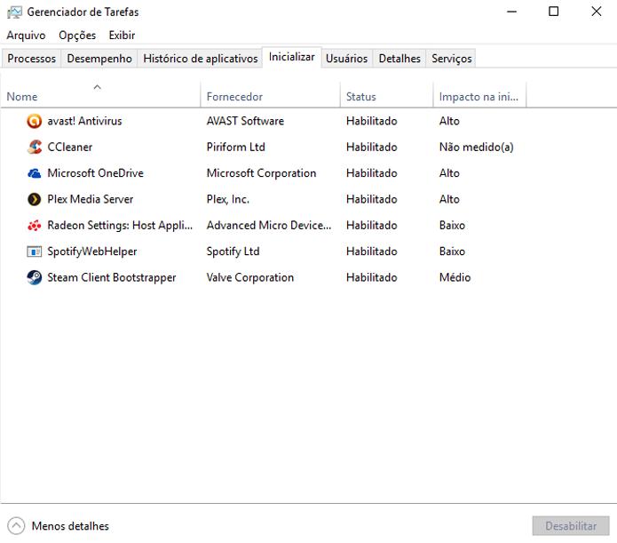 Selecione quais programas serão inicializados junto com o Windows (Foto: Reprodução/André Mello)