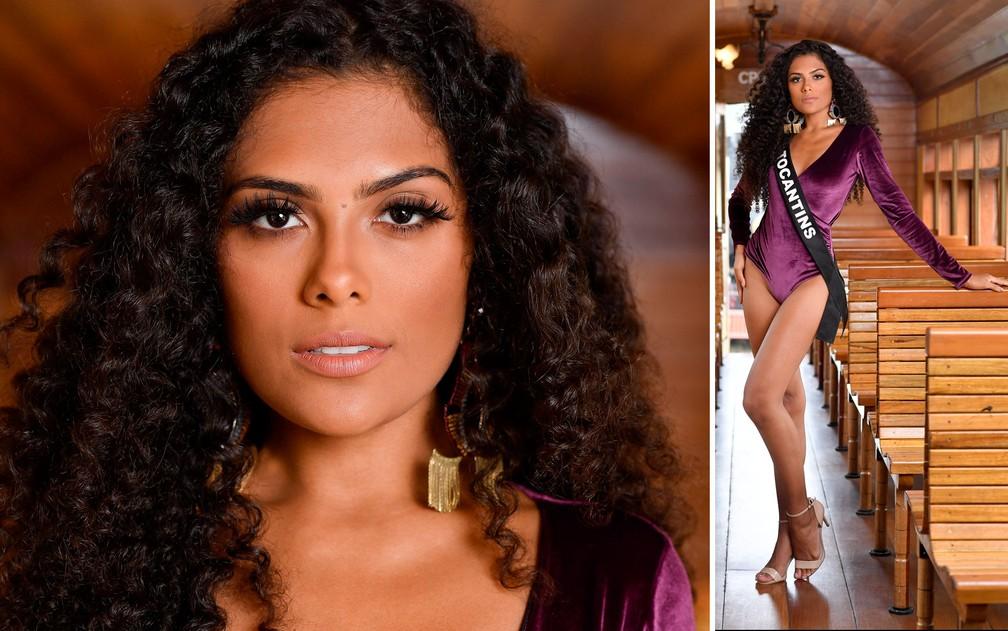Alessandra Almeida, 19 anos, estudante de psicologia, é a Miss Tocantins — Foto: Rodrigo Trevisan/Divulgação/Miss Brasil