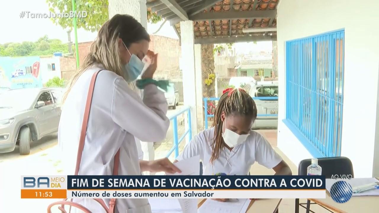 Vacinação de profissionais que atuam no combate à Covid continua neste final de semana