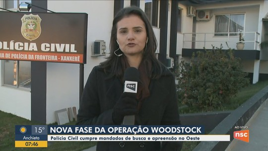 Polícia Civil realiza nova fase da Operação Woodstock no Oeste catarinense