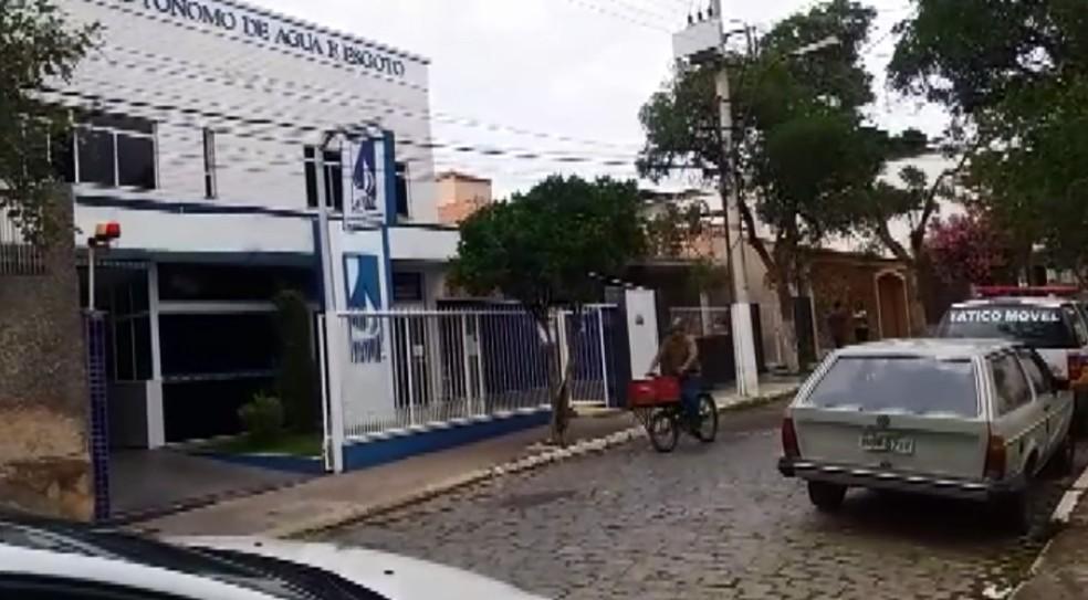 SAAE de São Lourenço fo alvo de operação do Ministério Público (Foto: Reprodução EPTV)
