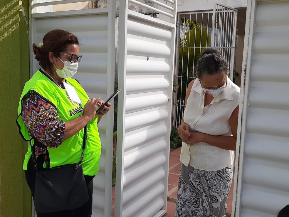 Testes de sorologia da pesquisa tiveram início no RN — Foto: Julianne Barreto/Inter TV Cabugi
