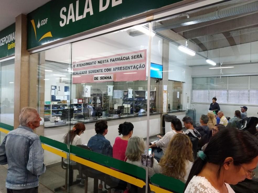 Farmácia de Alto Custo da Asa Sul, em Brasília (Foto: Vinícius Oliveira/Arquivo Pessoal)