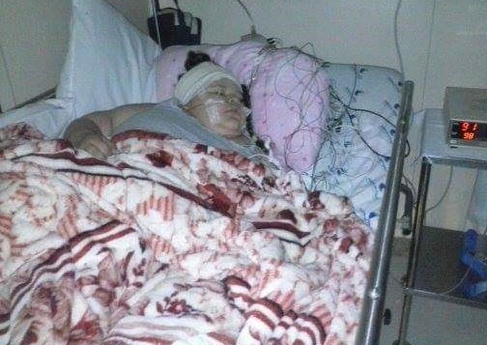 Allicia faz acompanhamento em um hospital na capital paulista — Foto: Arquivo Pessoal