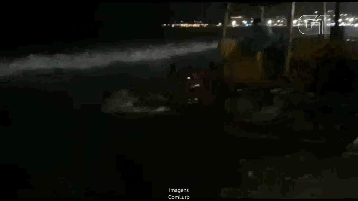 Comlurb remove corpo de baleia morta da Praia de Copacabana, na Zona Sul do Rio