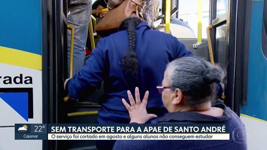Alunos da Apae de Santo André estão sem transporte