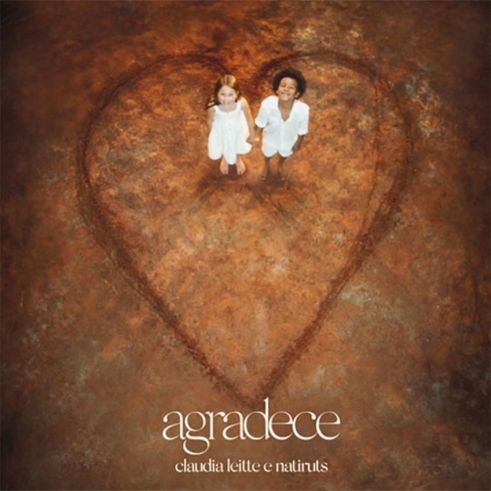 Capa do single 'Agradece', de Claudia Leitte e Natiruts — Foto: Reprodução