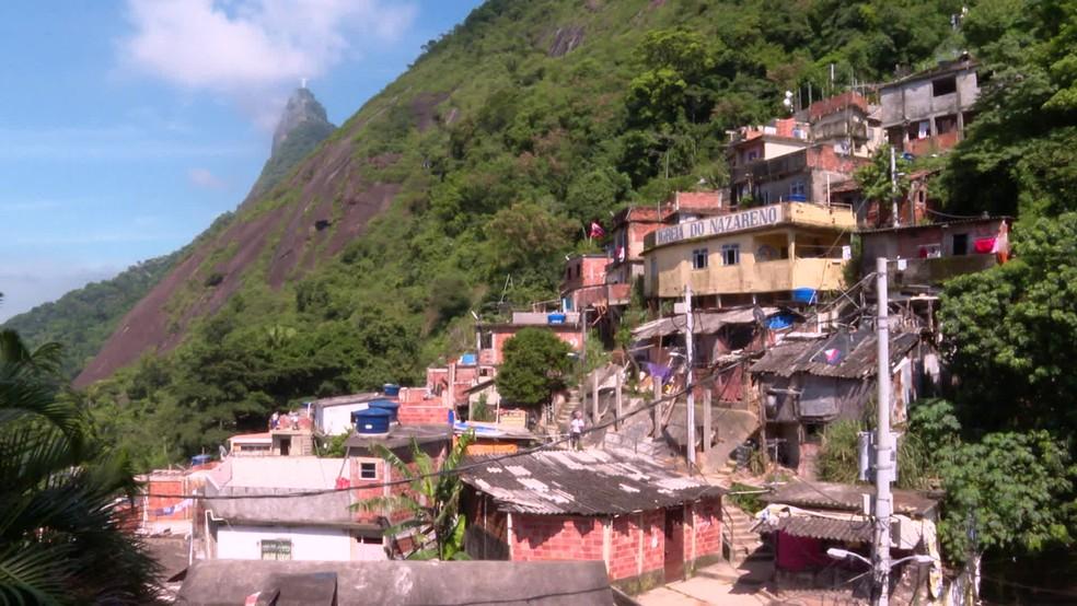 Comunidade Santa Marta, em Botafogo, na Zona Sul do Rio — Foto: Reprodução/ TV Globo