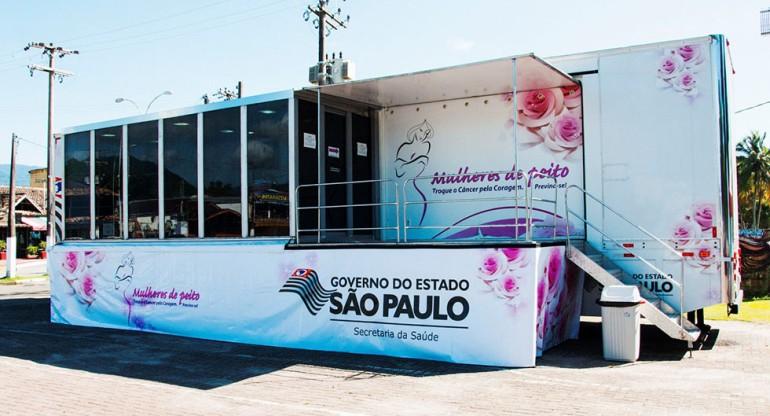 Marília recebe carreta de exames de mamografia nesta segunda-feira