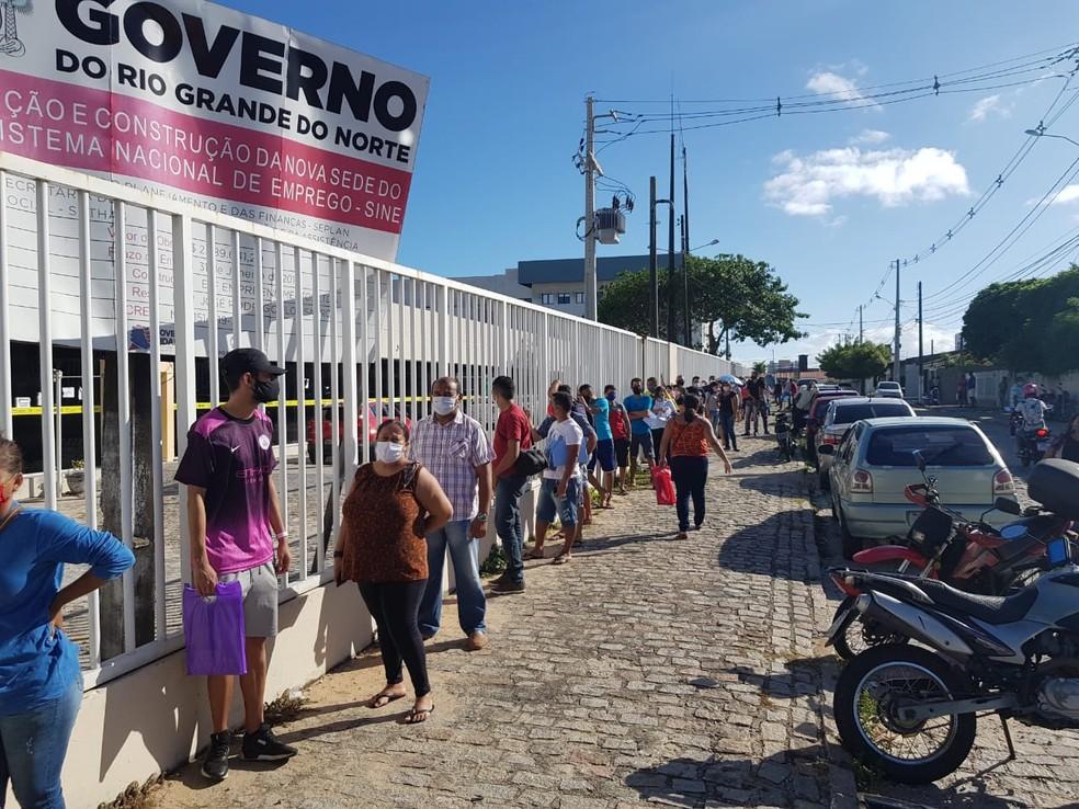Unidade Matriz do Sine, em Candelária, está com atendimento presencial apenas através de agendamento — Foto: Luiz Gustavo Ribeiro/Inter TV Cabugi