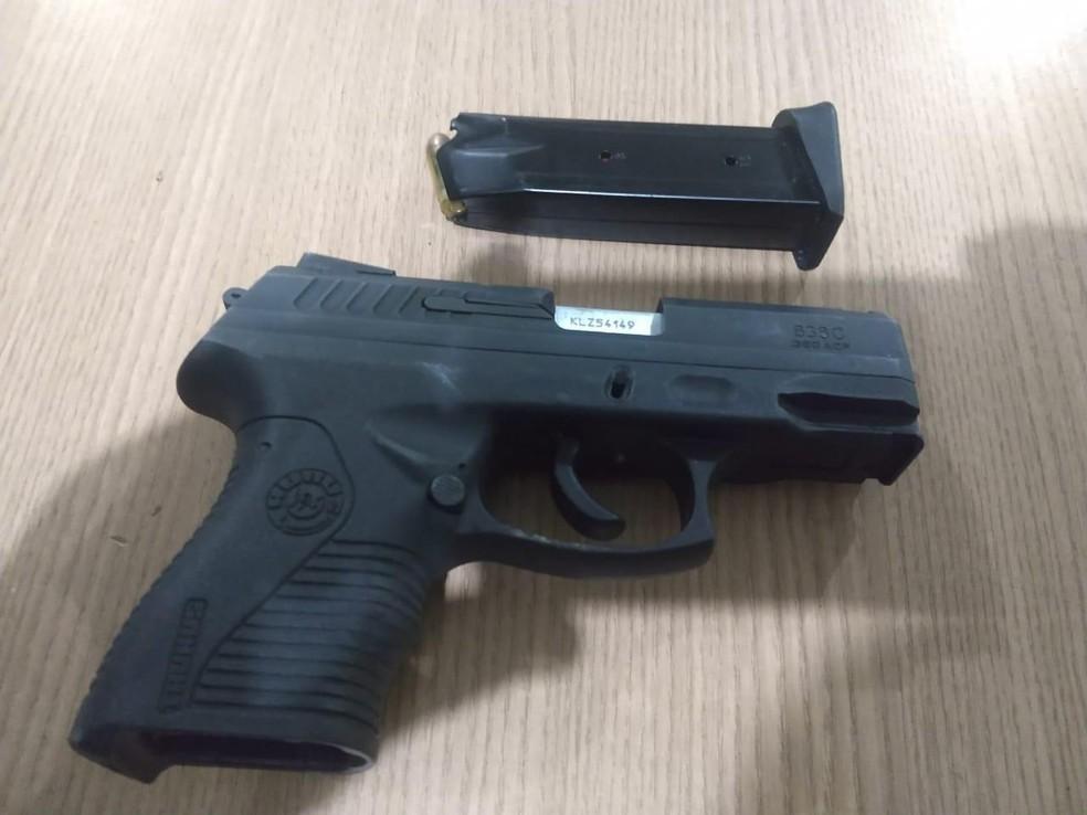 Arma do crime foi apreendida em Ariquemes, RO — Foto: Reprodução