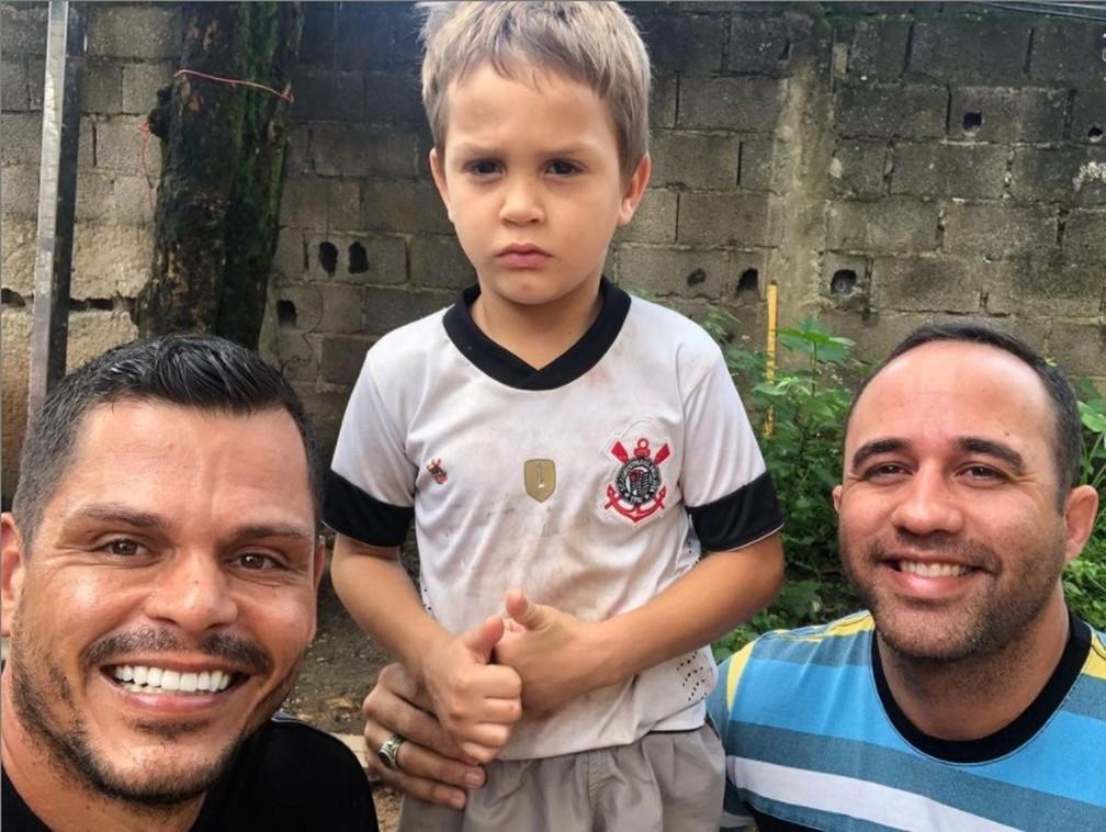 André Pereira, Matheus e Glaucio — Foto: Arquivo pessoal/André Pereira