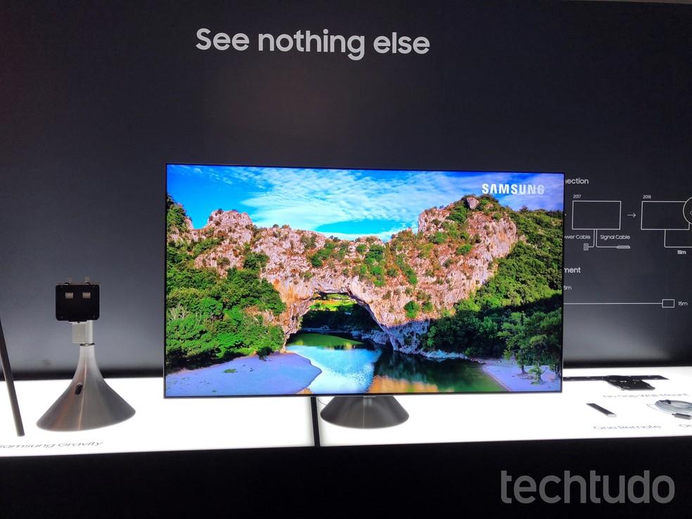 Samsung QLED 2018 chega com promessa de mais contraste (Foto: Anna Kellen Bull/TechTudo)