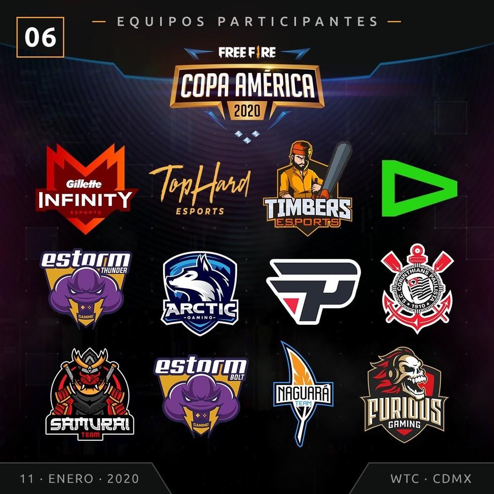 Copa América de Free Fire 2020 reunirá melhores equipes do servidor da América Latina — Foto: Reprodução/Twitter Garena Latam