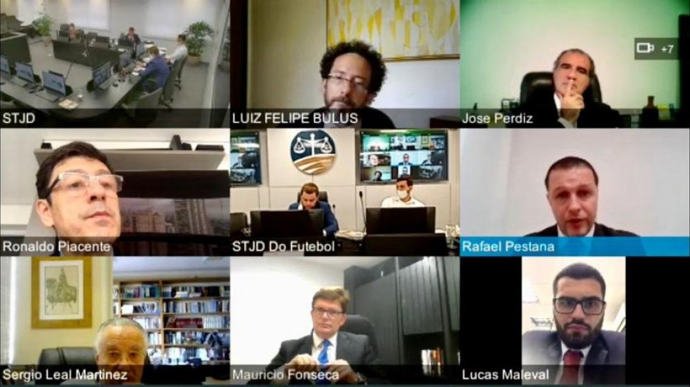 Julgamento online do Plenos do STJD aconteceu nesta quinta-feira — Foto: Daniela Lameira / Site STJD