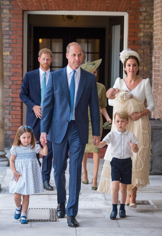 Príncipe William e Kate Middleton com os filhos Charlotte, George e Louis (Foto: Getty Images)