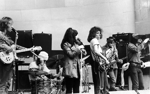O Jefferson Airplane em 1969 (esq. pra dir.): Paul Kantner, Spencer Dryden, Grace Slick, Jorma Kaukonen, Jack Casady e Marty Balin (Foto: Getty Images)